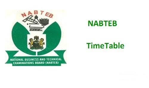 NABTEB Timetable for 2020 May/June NBC/NTC Examinations