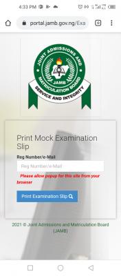 JAMB 2021 mock exam slip printing has begun - see guidelines